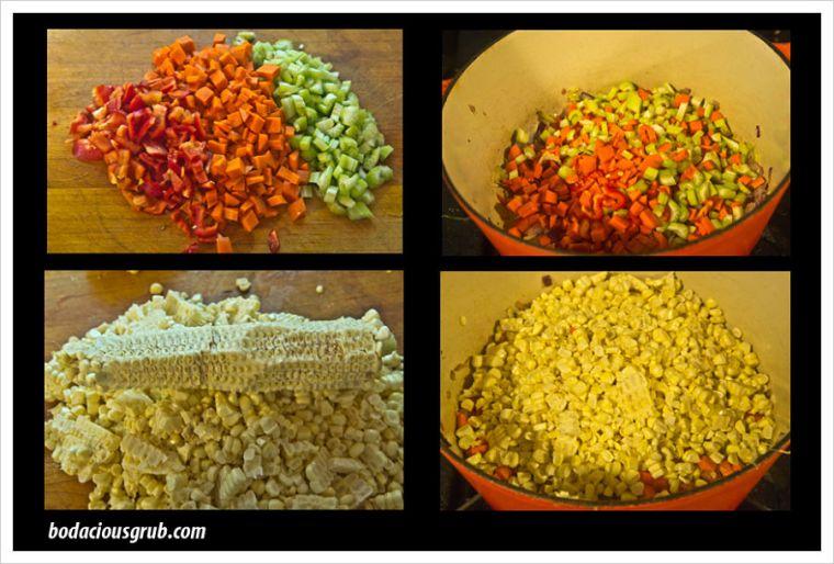 Sweet Corn Chowder - #bodaciousgrub Style