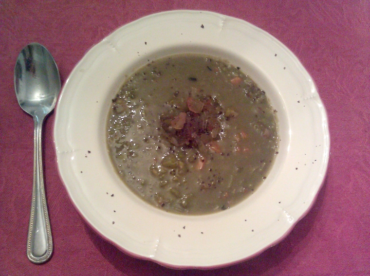 Split Pea and Pigs' Feet Soup with Spanish Influence