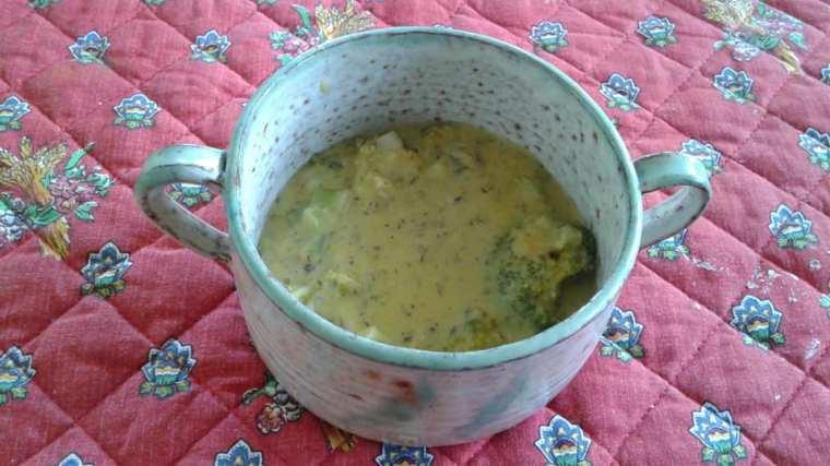 Corn Coconut Milk Broccoli shalot soup