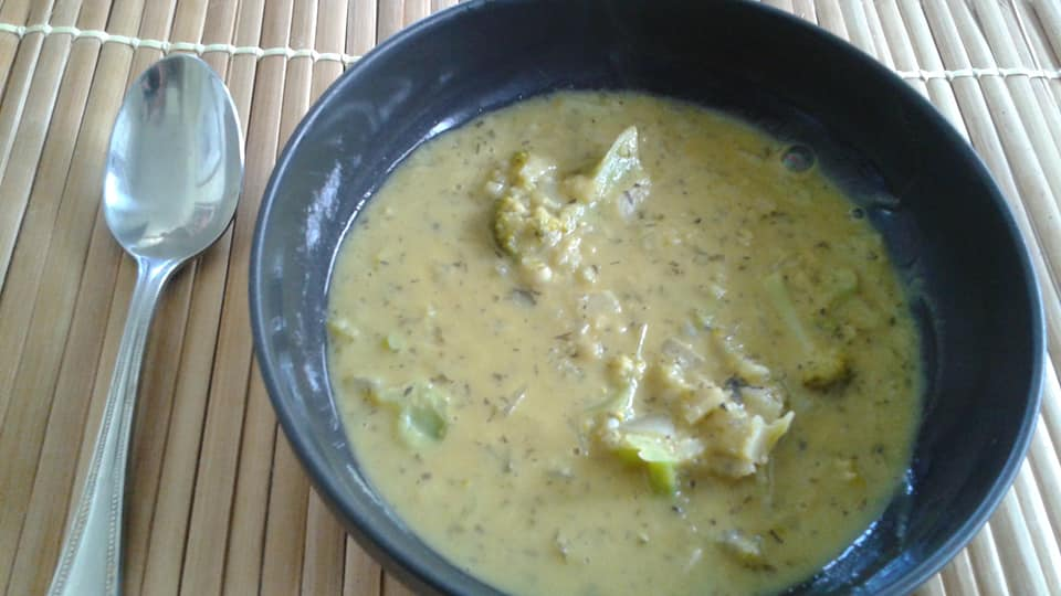 Corn Coconut Milk Broccoli shallot soup